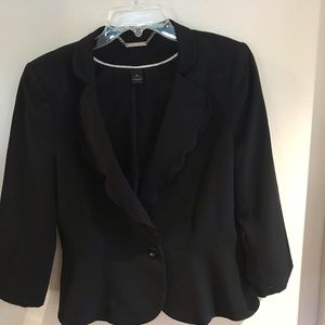White House Black Market black dress jacket